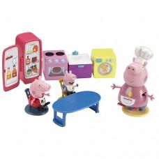 Игровой набор Peppa Кухня мебель техника 3 фигурки
