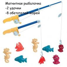 Магнитная рыбалка Делюкс 2 удочки 8 животных