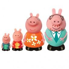 Игрушки брызгалки Peppa Семья Пеппы 4 фигурки