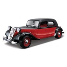 Модель авто CITROEN 15 CV TA 1938 черный красно-черный 1к24