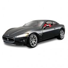 Модель авто Maserati GRANTOURISMO 2008 черный серебристый 1к24