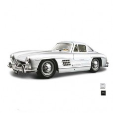 Модель авто Mercedes-benz 300 SL 1954 красный серебристый 1к24