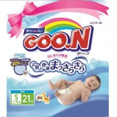 Подгузники goon для детей 4-8 кгразмер S на липучках унисекс 21 шт