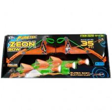 Игровое оружие АРБАЛЕТ ZEON 3 стрелы с подсветкой оранжевый