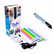 3D-ручка 3Doodler Create Голубой металлик 50 стержней из ABS-пластика