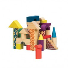 Деревянные кубики Еловый Домик 40 деталей в сумочке