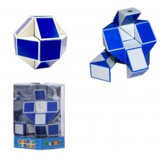 Головоломка Rubiks Змейка бело-голубая