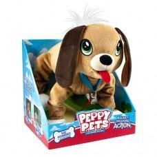 Игрушка Peppy pets Веселая прогулка Бассет 28 см ошейник поводок