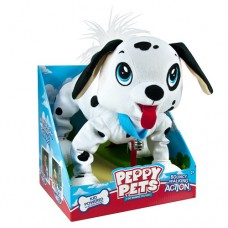 Игрушка Peppy pets Веселая прогулка далматинец 28 см ошейник поводок