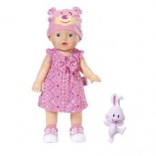 Интерактивная кукла My little Baby Born Учимся ходить 32 см с погремушкой