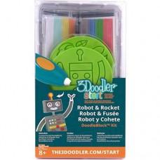 Набор аксессуаров для 3D-ручки 3Doodler Start Ракета 48 стержней 2 шаблона
