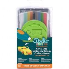 Набор аксессуаров для 3D-ручки 3Doodler Start Транспорт 48 стержней 2 шаблона
