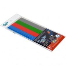 Набор стержней для 3D-ручки 3Doodler Start Микс 24 шт серый голубой зеленый красный