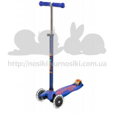 Самокат Maxi Micro Deluxe Blue светятся колеса Led