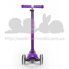 Самокат Maxi Micro Deluxe Purple светятся колеса