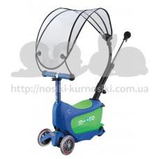 Самокат детский Mini Micro 2go Deluxe Crystal Blue Canopy