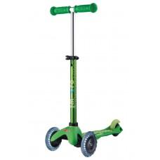 Самокат Mini Micro Deluxe Green светятся колеса