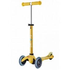 Самокат Mini Micro Deluxe Yellow светятся колеса
