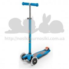 Самокат Maxi Micro Deluxe Caribbean blue led светятся колеса