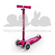Самокат Maxi Micro Deluxe Pink светятся колеса Led