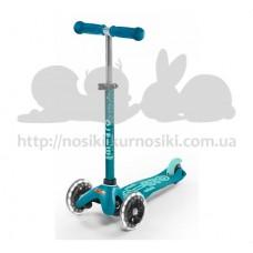 Самокат Mini Micro Deluxe Aqua светятся колеса Led
