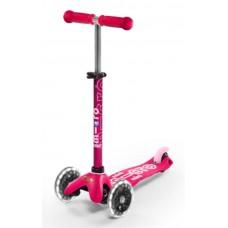 Самокат Mini Micro Deluxe Pink светятся колеса Led