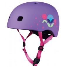 Шлем защитный детский Micro Floral purple M V2 52-56 см AC2085
