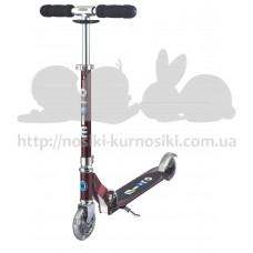 Самокат с Led колесами Micro Sprite Autumn red SA0209
