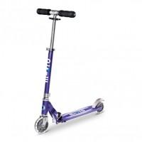 Самокат с Led колесами Micro Sprite Blue stripe SA0217