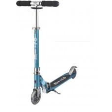 Самокат с Led колесами Micro Sprite Ocean blue SA0210
