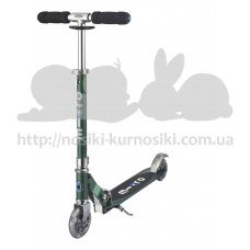 Самокат с Led колесами Micro Sprite Forest green SA0208