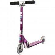Самокат с Led колесами Micro Sprite Purple stripe SA0219
