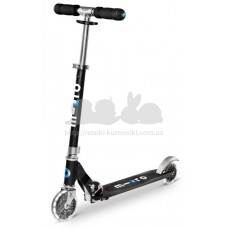 Самокат Micro Sprite Black Led колеса
