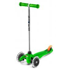 Самокат от года Mini Micro Classic Green Led колеса