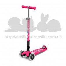 Самокат детский Micro Maxi Deluxe Led светящиеся колеса Pink Tf