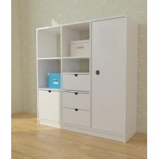 Шкаф гардероб Монтессори 3 секции ДСП