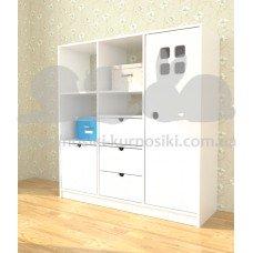 Шкаф гардероб Монтессори 3 секции МДФ