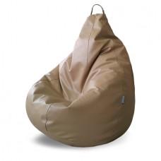 Кресло мешок Родео Relaxo белая кожа