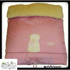 Зимний конверт на овчине N 20 excluzive розовый цв 3