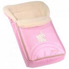 Зимний конверт на овчине Womar 8 excluzive 95x50 см розовый