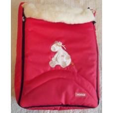 Зимний конверт на овчине Womar 8 excluzive 95x50 см красный