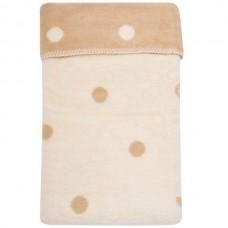 Одеяло-плед в кружочек Womar 100х150 см бежевый