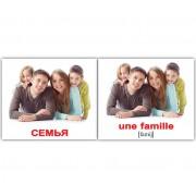 Карточки Домана Семья русск французский мини 20 шт