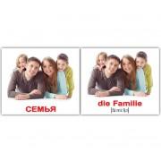 Карточки Домана Семья die Familie русский немецкий мини 20 шт