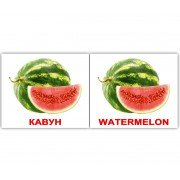 Карточки Домана Фрукти Fruit мини 40 Укр Англ
