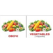 Мини карточки Домана англо-украинские Їжа Food 40 шт