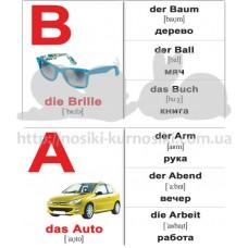 Мини карточки Домана немецкий алфавит das Alphabet