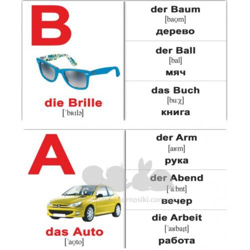37cbeb276 Мини карточки Домана немецкий алфавит das Alphabet Wunderkind купить ...