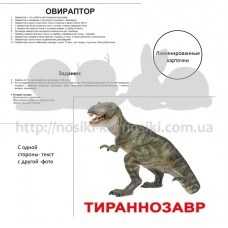 Карточки Домана Динозавры ламинированные русс