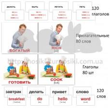 Карточки Домана набор Глаголы английский